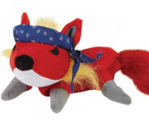 Even the plush toys get a rock star look with a bandanna (from $9.99).