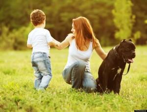 Dog Mom and Son grieve