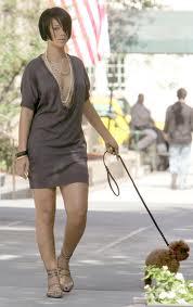 Rihanna walking dog